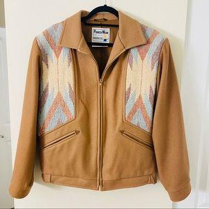 Women's Pioneer Wear Wool Aztec Camel Jacket